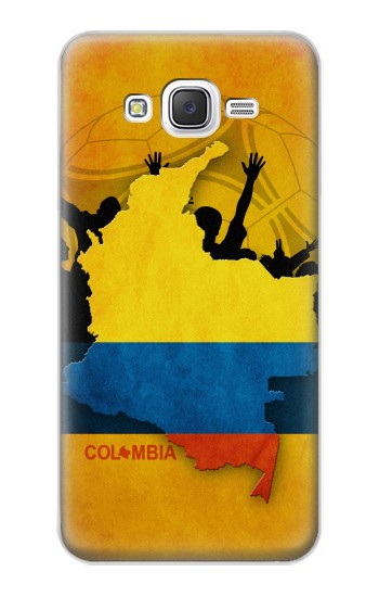 Printed Colombia Football Flag Samsung Galaxy J5 Case