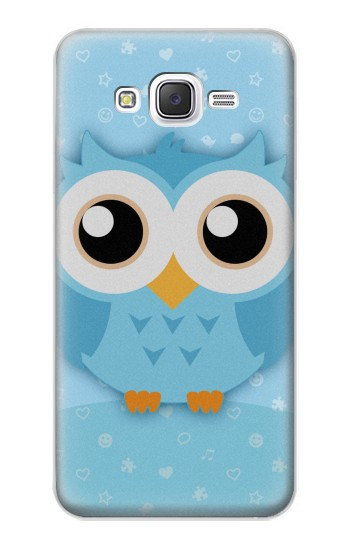 Printed Cute Blue Owl Samsung Galaxy J5 Case
