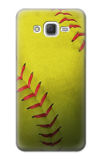 Printed Yellow Softball Ball Samsung Galaxy J5 Case