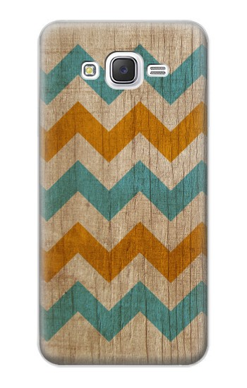 Printed Vintage Wood Chevron Samsung Galaxy J5 Case