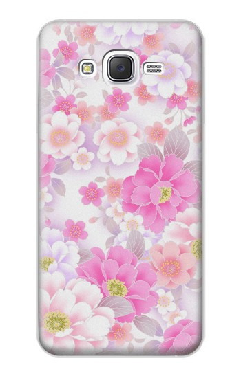 Printed Pink Sweet Flower Flora Samsung Galaxy J5 Case