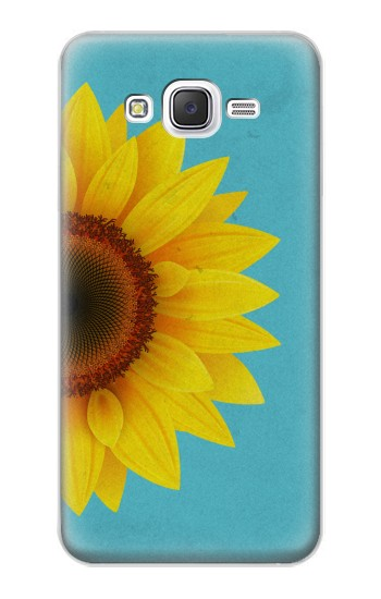 Printed Vintage Sunflower Blue Samsung Galaxy J5 Case