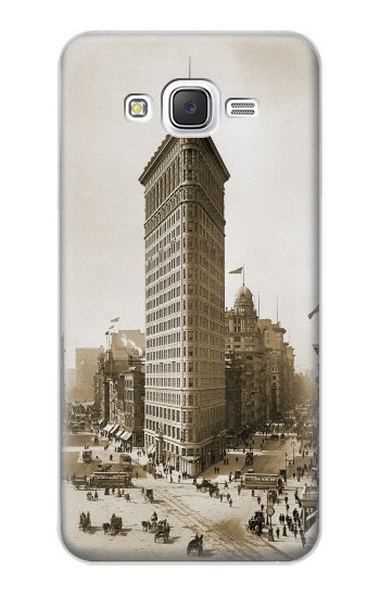 Printed Old New York Flatiron Building Samsung Galaxy J5 Case