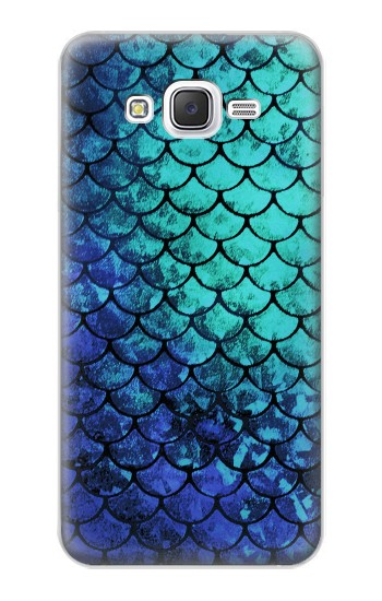 Printed Green Mermaid Fish Scale Samsung Galaxy J5 Case