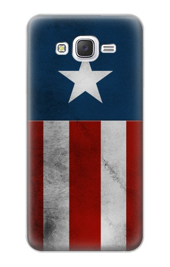 Printed Captain Star Flag of America Samsung Galaxy J5 Case