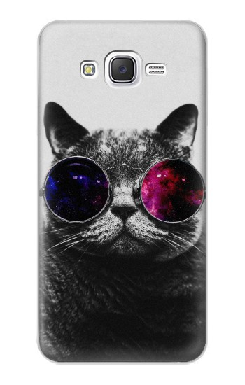 Printed Cool Cat Glasses Samsung Galaxy J5 Case