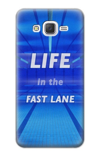 Printed Life in the Fast Lane Swimming Pool Samsung Galaxy J5 Case