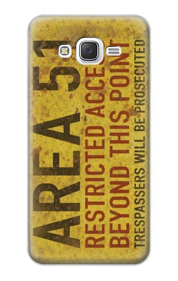 Printed Area 51 Restricted Access Warning Sign Samsung Galaxy J5 Case