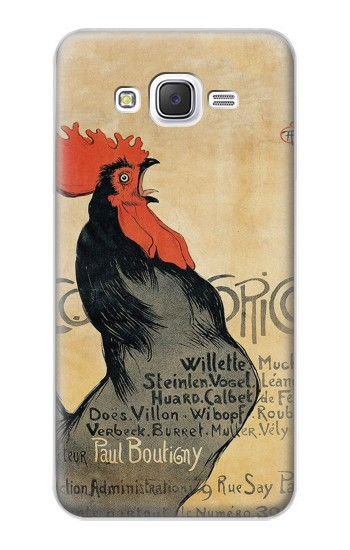 Printed Cocorico Rooster Vintage French Poster Samsung Galaxy J5 Case