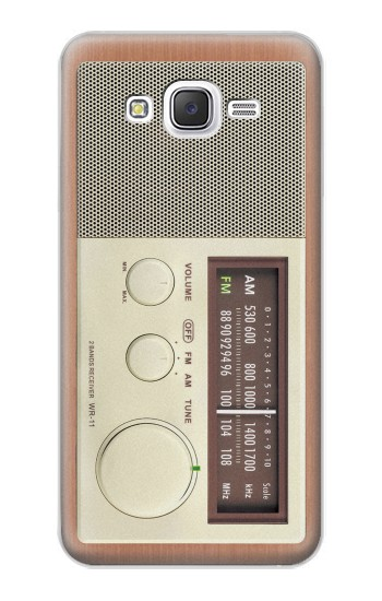 Printed FM AM Wooden Receiver Graphic Samsung Galaxy J5 Case