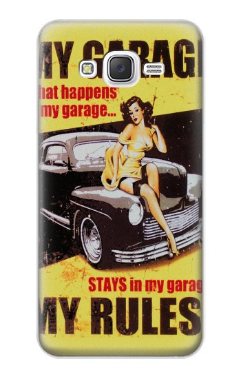 Printed My Garage Pinup Girl Samsung Galaxy J5 Case
