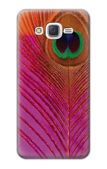 Printed Pink Peacock Feather Samsung Galaxy J5 Case