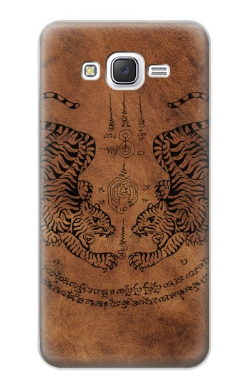 Printed Sak Yant Twin Tiger Samsung Galaxy J5 Case