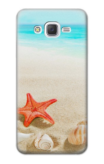 Printed Sea Shells Starfish Beach Samsung Galaxy J5 Case