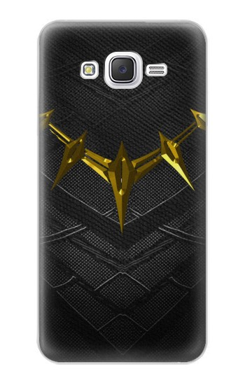 Printed Black Panther Inspired Costume Gold Necklace Samsung Galaxy J5 Case
