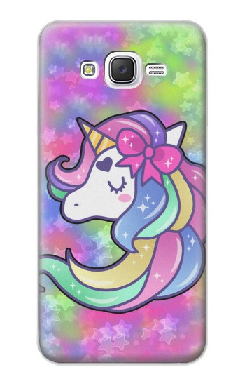 Printed Pastel Unicorn Samsung Galaxy J5 Case