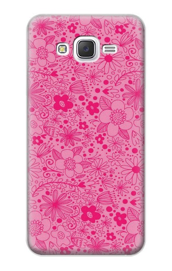 Printed Pink Flower Pattern Samsung Galaxy J5 Case