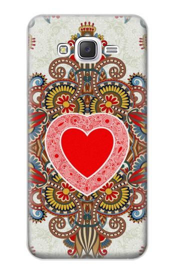 Printed Heart Pattern Line Art Samsung Galaxy J5 Case
