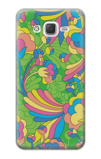 Printed Flower Line Art Pattern Samsung Galaxy J5 Case