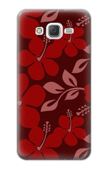 Printed Hawaii Dark Red Pattern Samsung Galaxy J5 Case
