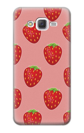 Printed Strawberry Fruit Pattern Samsung Galaxy J5 Case