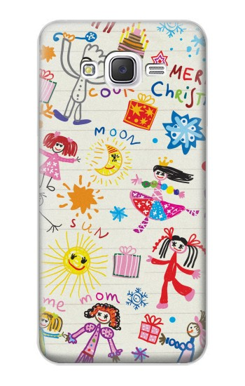 Printed Kids Drawing Samsung Galaxy J5 Case