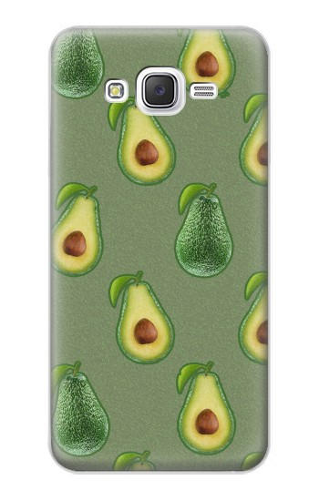 Printed Avocado Fruit Pattern Samsung Galaxy J5 Case
