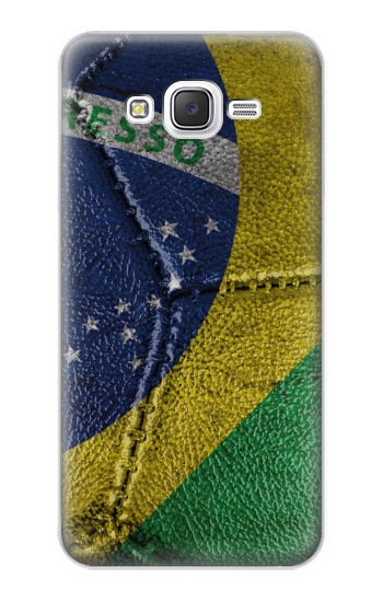 Printed Brazil Flag Vintage Football 2018 Samsung Galaxy J5 Case