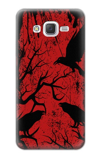 Printed Crow Black Tree Samsung Galaxy J5 Case