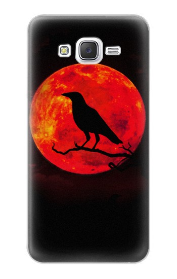 Printed Crow Red Moon Samsung Galaxy J5 Case