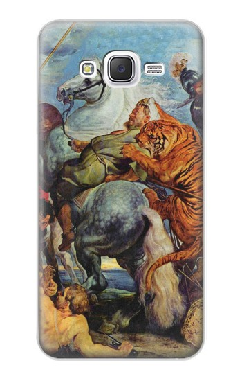 Printed Peter Paul Rubens Tiger und Lowenjagd Samsung Galaxy J5 Case