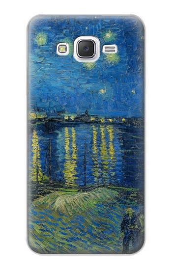 Printed Van Gogh Starry Night Over Rhone Samsung Galaxy J5 Case