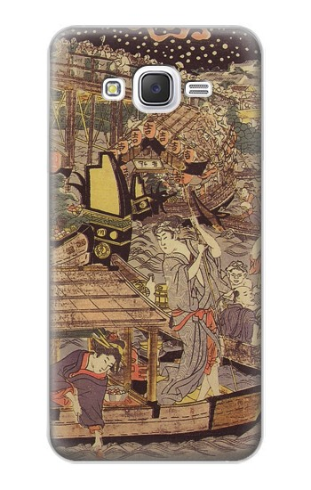 Printed Utagawa Kuniyasu Fireworks at Ryogoku Bridge Samsung Galaxy J5 Case