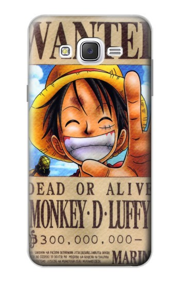 Printed One Piece Monkey D Luffy Wanted Poster Samsung Galaxy J7 Case