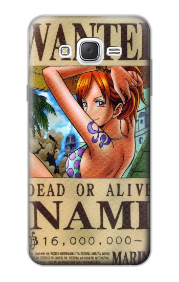 Printed One Piece NAMI Wanted Poster Samsung Galaxy J7 Case