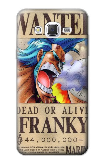 Printed One Piece FRANKY Wanted Poster Samsung Galaxy J7 Case