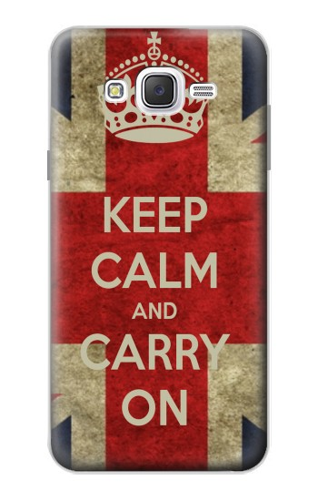 Printed Keep Calm and Carry On Samsung Galaxy J7 Case
