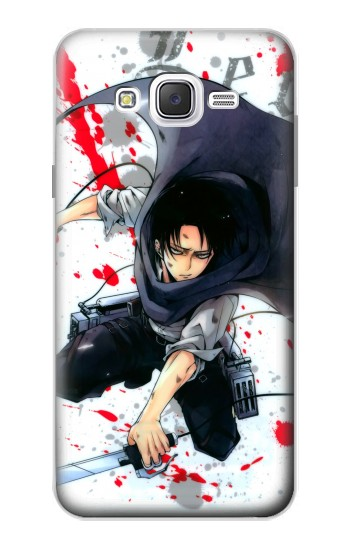 Printed Attack on Titan Rivaille Levi Samsung Galaxy J7 Case