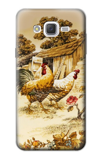 Printed French Country Chicken Samsung Galaxy J7 Case