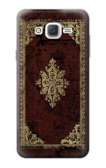 Printed Vintage Map Book Cover Samsung Galaxy J7 Case