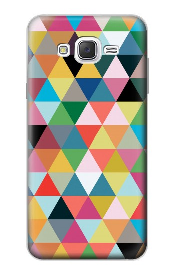 Printed Triangles Vibrant Colors Samsung Galaxy J7 Case