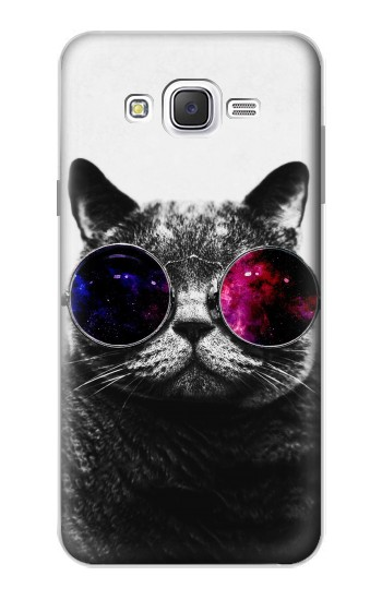 Printed Cool Cat Glasses Samsung Galaxy J7 Case