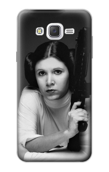Printed Princess Leia Carrie Fisher Samsung Galaxy J7 Case