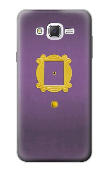 Printed Friends Purple Door Minimalist Samsung Galaxy J7 Case