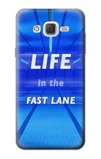 Printed Life in the Fast Lane Swimming Pool Samsung Galaxy J7 Case