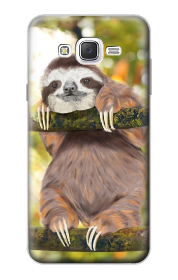 Printed Cute Baby Sloth Paint Samsung Galaxy J7 Case