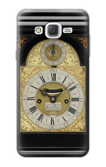 Printed Antique Bracket Clock Samsung Galaxy J7 Case