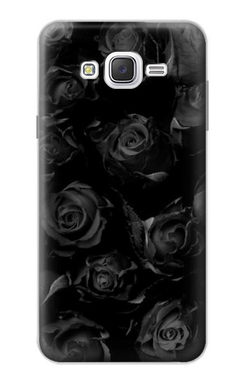 Printed Black Roses Samsung Galaxy J7 Case