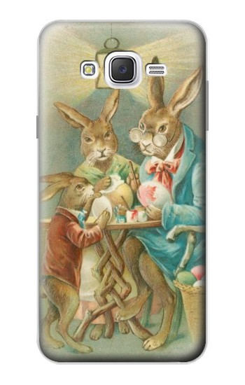 Printed Easter Rabbit Family Samsung Galaxy J7 Case