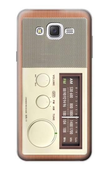 Printed FM AM Wooden Receiver Graphic Samsung Galaxy J7 Case